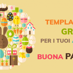 Template gratuiti per i tuoi auguri di Buona Pasqua!