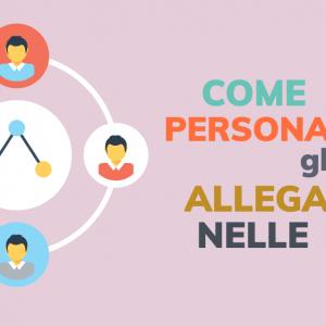 Come personalizzare gli allegati nelle email