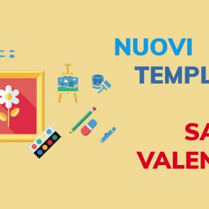 Nuovi template per San Valentino!