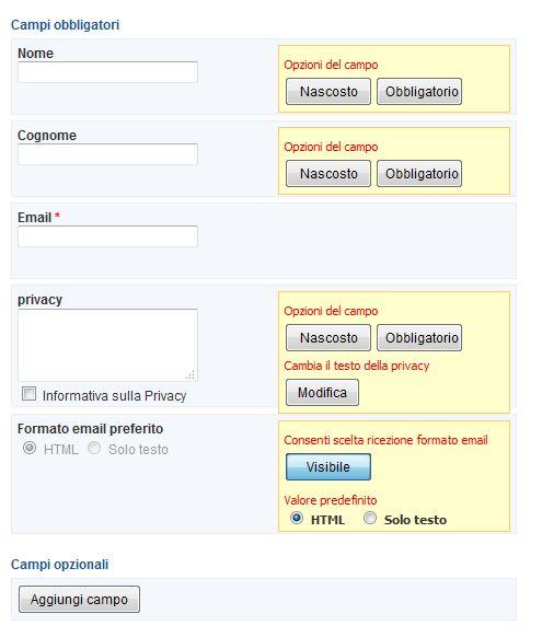 Crea un database di email-2