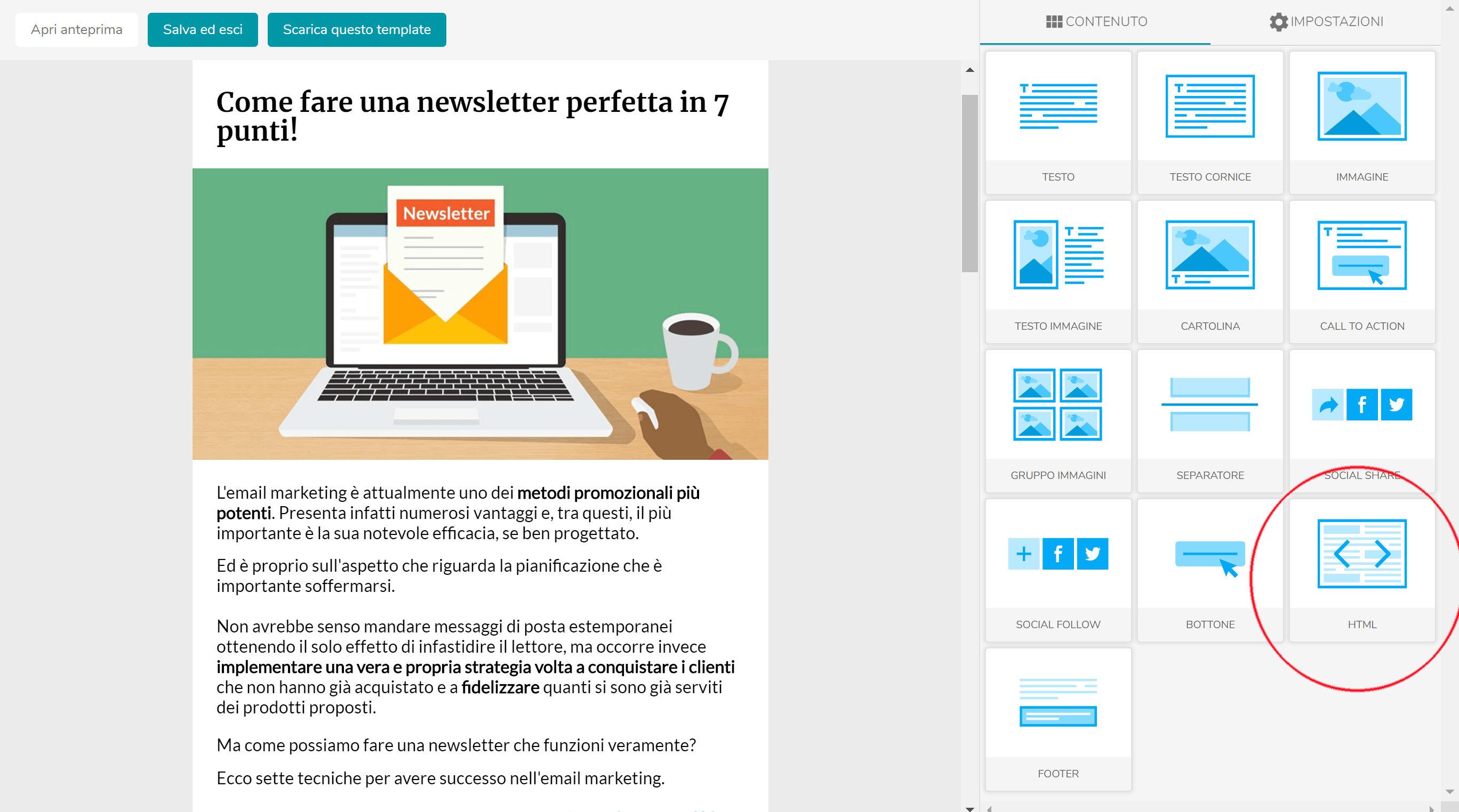 Come inserire un timer countdown in una email 1