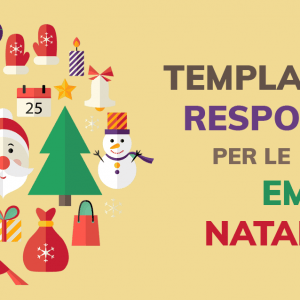 Template responsive per le email di Natale