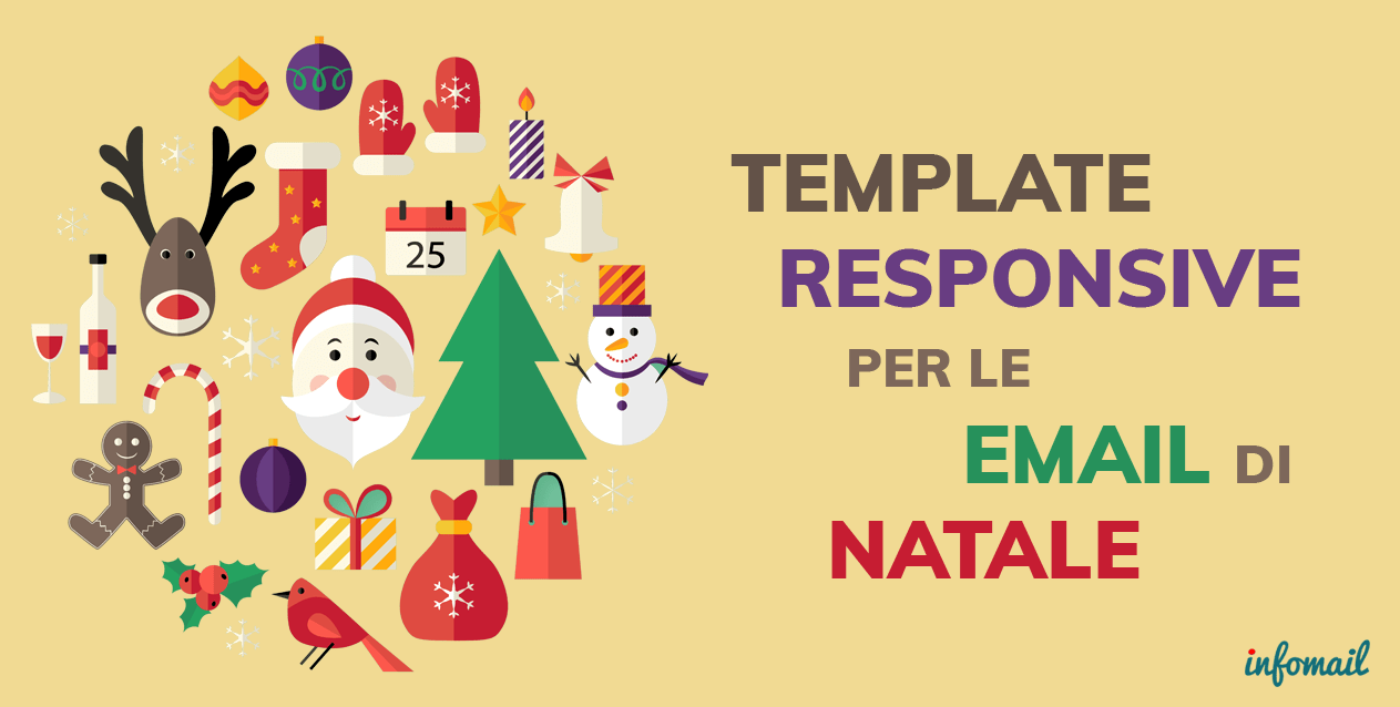 Immagini Natale Email.Template Responsive Per Le Email Di Natale Infomail
