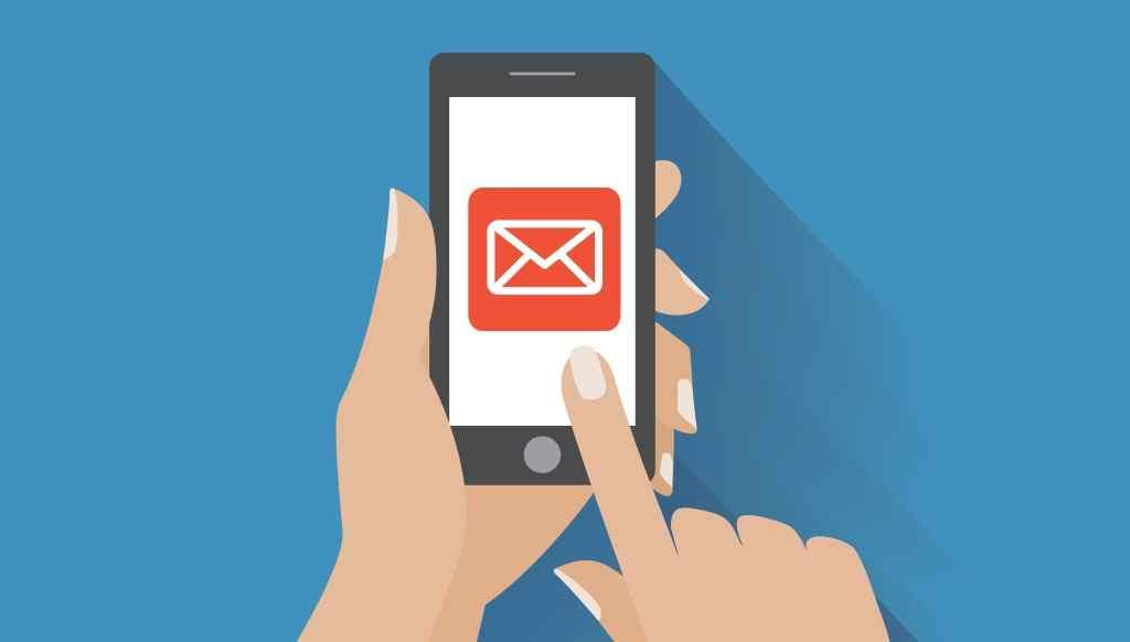 email su dispositivo mobile