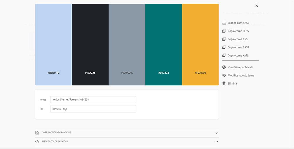 I colori per l'email marketing - Adobe color