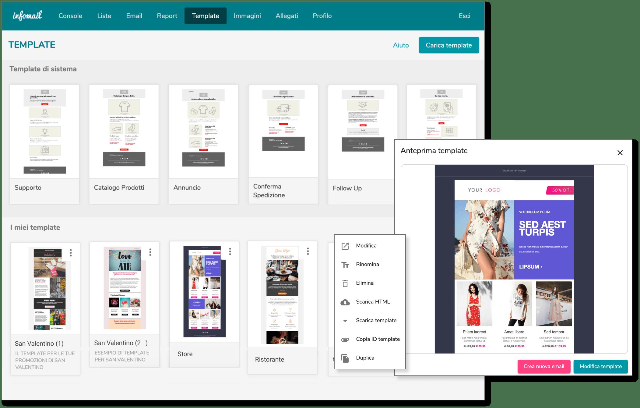 I template di Infomail ti aiutano a preparare la tua newsletter