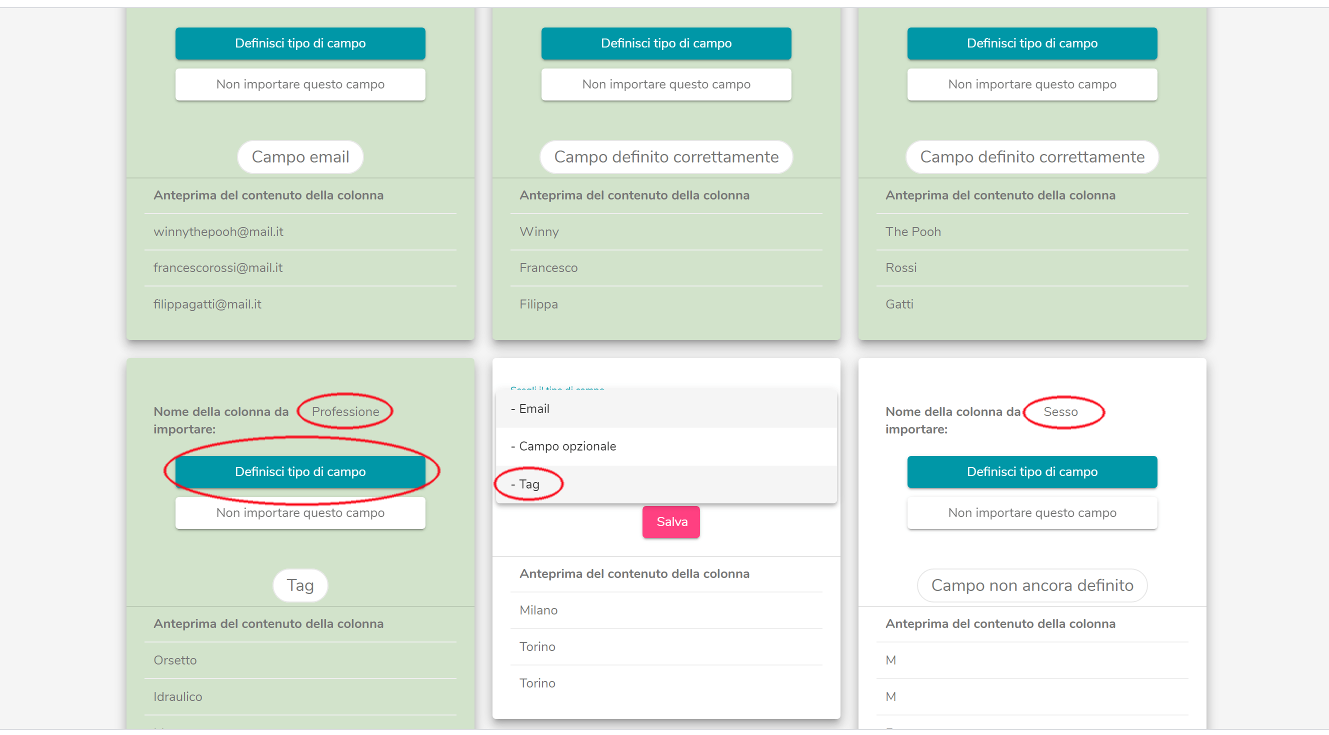 creare una mailing list in infomail